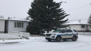 Regina Police are investigating after a man was found dead in the 800 block of Robinson St. on Saturday, November 9, 2019. (Kayleen Sawatzky/CTV News