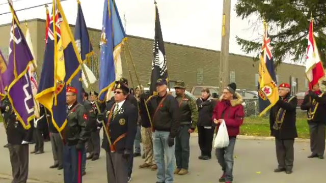 Kahnawake honours vets at annual Remembrance Day Parade