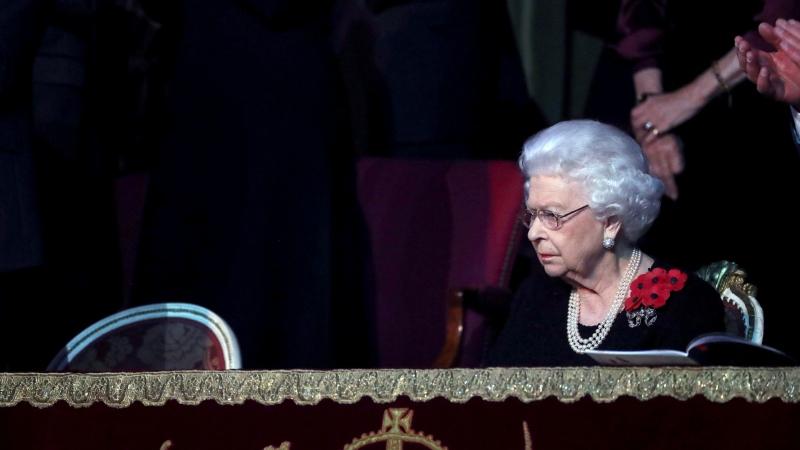 Queen Elizabeth II attends the annual Royal British Legion Festival of Remembrance at the Royal Albert Hall in Kensington, London on Saturday, Nov. 9, 2019. (Chris Jackson/Pool via AP)
