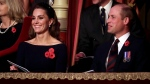 Prince William and Kate, the Duchess of Cambridge arrives for the annual Royal British Legion Festival of Remembrance, at the Royal Albert Hall in Kensington, London, Saturday, Nov. 9, 2019. (Chris Jackson/Pool Photo via AP)