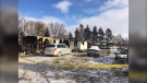 Three people are dead following a fire near Plumas, Man. (Source: Beth Macdonell/CTV News)
