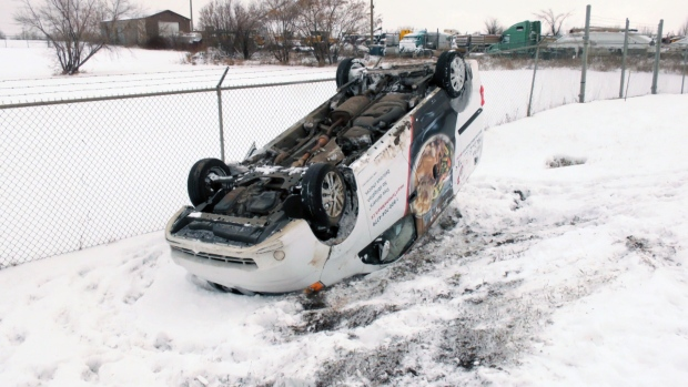 Edmonton police received nearly 300 reports of collisions from Friday evening into Sunday afternoon.