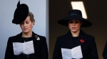 Meghan, Duchess of Sussex, right, and Sophie, Countess of Wessex attend the Remembrance Sunday ceremony at the Cenotaph in Whitehall in London, Sunday, Nov. 10, 2019. Remembrance Sunday is held each year to commemorate the service men and women who fought in past military conflicts. (AP Photo/Matt Dunham)