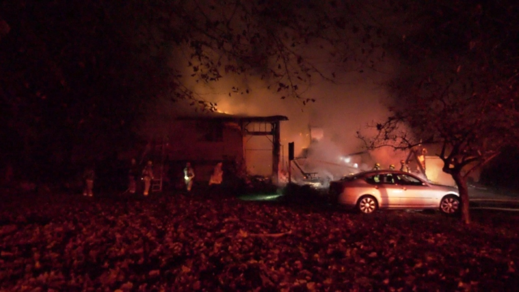 Fire destroys home in Courtenay