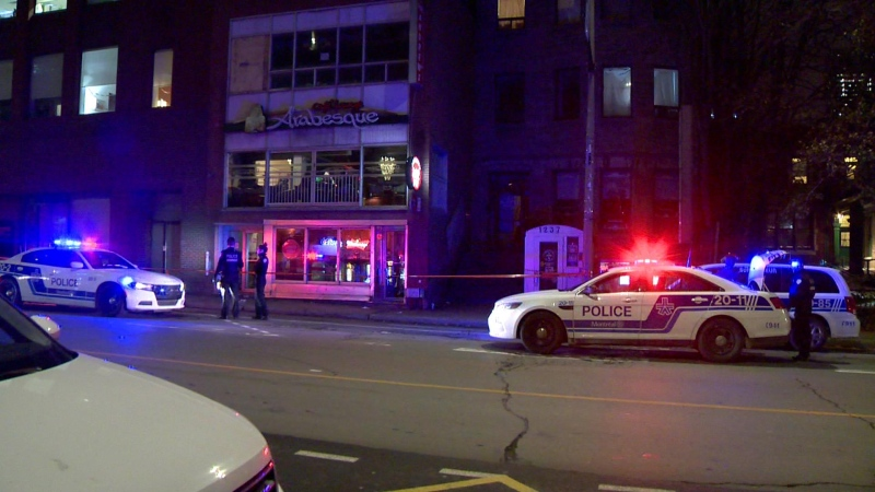 A man in his 40s was rushed to hospital after being stabbed in the upper body in downtown Montreal.