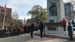 A Remembrance Day service is held at Grand Parade in Halifax on Nov. 11, 2019. (Natasha Pace/CTV Atlantic)