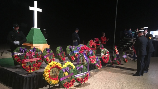 File image of the Remembrance Day service at the RBC Convention Centre. (Sarah Plowman/CTV News.)