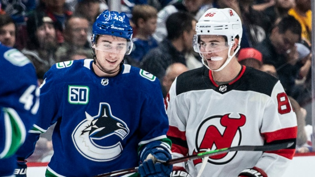 The Vancouver Canucks faced off against the New Jersey Devils on Sunday afternoon.   <br>This was the first opportunity for Vancouver hockey fans to see the Hughes brothers - the Canucks' Quinn and first overall 2019 draft pick Jack - compete against each other.  <br>Unfortunately for Canucks fans, the home team fell  by a score of 2-1 and only Quinn managed to make it on the score sheet, registering one assist.  (Photos by Anil Sharma for CTVNewsVancouver.ca)