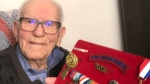 Arthur Densley, 98, helped build bridges in during the Second World War.
