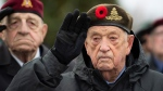 D-Day veteran Jack Commerford salutes during a Remembrance Day ceremony at the National Military Cemetery at Beechwood Cemetery in Ottawa, on Monday, Nov. 11, 2019. THE CANADIAN PRESS/Justin Tang