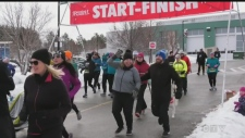 WATCH: Run to Remember fundraiser organized by students at Collège Boréal aims to raise awareness about PTSD.  Ian Campbell reports.