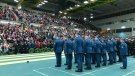 Thousands of Edmontonians poured into the Butterdome at the University of Alberta to pay their respect to Canada's fallen soldiers on Remembrance Day. Nov. 11, 2019. (CTV News Edmonton)
