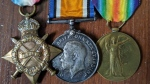 The war medals of Ernest Henry Bake are being returned to his family on Monday, Nov. 11, 2019.