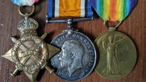 The war medals of Ernest Henry Bake are being returned to his family on Monday, Nov. 11, 2019. (Facebook / Shawn MacNeil)