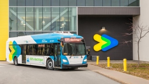 The Société de transport de Montréal has received the first of its 30 new electric buses.