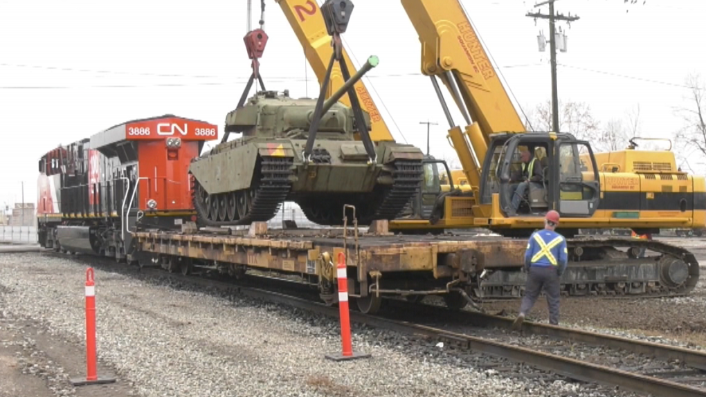 Last-known Korean War tank in Canada arrives in B.C.