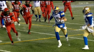 Winnipeg defeated Calgary Sunday in the Western semi-final at McMahon Stadium