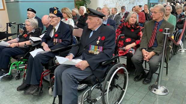 A Remembrance Day service was held at Deer Lodge Centre, Nov. 11, 2019. (Jeremie Charron/CTV News.)