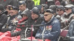 Hundreds gather to honour our veterans at Barrie's Remembrance Day services on Mon., Nov. 11, 2019 (Steve Mansbridge/CTV News)