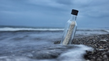 A message in a bottle is seen in this file image. (Pexels)