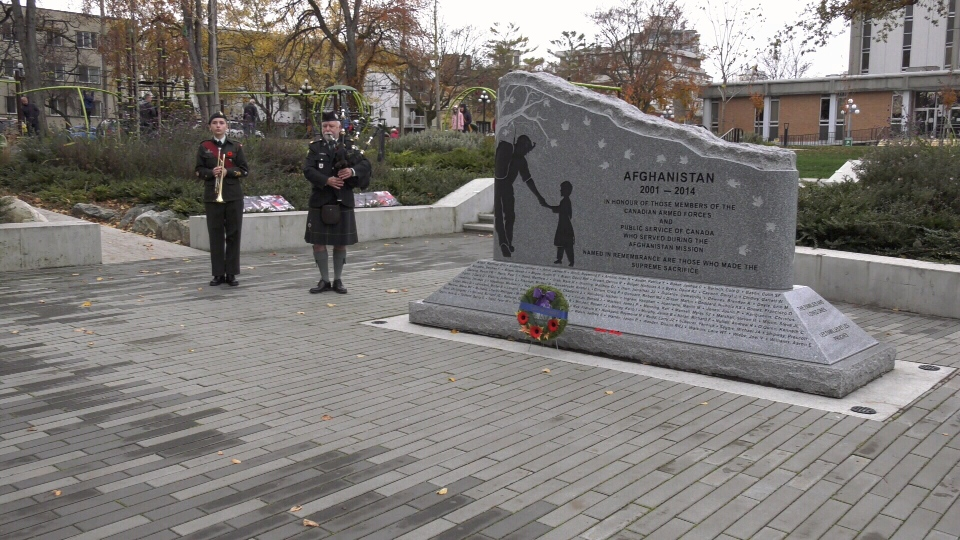Three Vancouver Island men were among the 163 fallen Canadians who died during the Afghanistan Mission were honoured at this year's Afghanistan memorial ceremony in Victoria: Nov. 11, 2019 (CTV News)