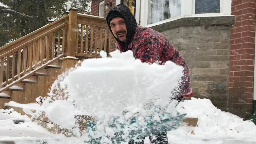 snow, shovelling