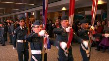 Thousands travelled to Exhibition Stadium in Lethbridge Monday to pay respects to soldiers who fought for Canada