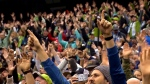 Crowd at Sounders' game