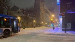 About 15-20 cm of snow is falling across Greater Montreal.