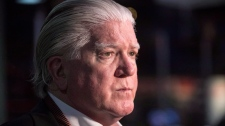 Brian Burke talks to media following a news conference on June 27, 2017. (THE CANADIAN PRESS/Chris Young)