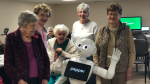 The world's first social humanoid robot visited residents at Bruyère Village on Tuesday.