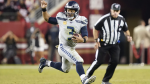 Seattle Seahawks quarterback Russell Wilson (3) runs the ball against the San Francisco 49ers during the second half of an NFL football game in Santa Clara, Calif., Monday, Nov. 11, 2019. (AP / Tony Avelar)