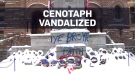 Toronto cenotaph vandalized after Remembrance Day
