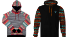 Two recalled sweatshirts are shown in images from Health Canada.