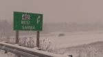 Squalls stall traffic across Lambton County