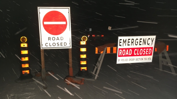 A portion of road is closed on Line 86 following a crash on Tuesday, Nov. 12, 2019. (Terry Kelly / CTV Kitchener)