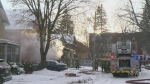 House fire sends one person to hospital