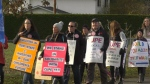 Bargaining is at a stalemate between the school board and local union as the Saanich School District strike continues into its third week: Nov. 12, 2019 (CTV News)