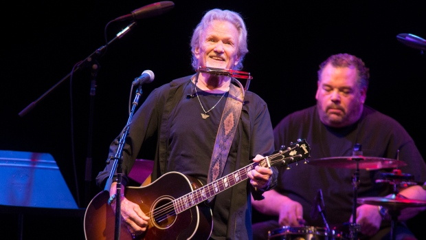 FILE - In this April 12, 2019, file photo, Kris Kristofferson performs in concert at The American Music Theatre in Lancaster, Pa. (Photo by Owen Sweeney/Invision/AP, File)
