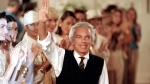 FILE - This Nov. 1, 1989 file photo shows fashion designer Ralph Lauren after presenting his spring collection during Fashion Week in New York. (AP Photo/Tim Clary, File)