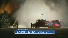 Drayton barn fire