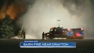 Drayton barn fire