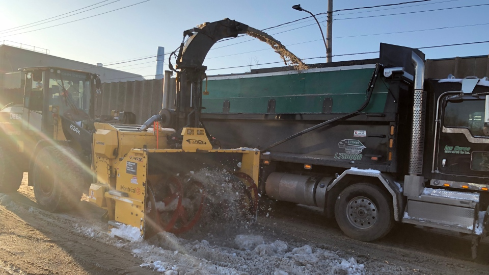 Snow removal operations are underway in Montreal.