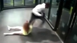 Purse-snatcher drags woman down escalator