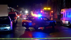A deadly blaze broke out in East Vancouver Tuesday night.