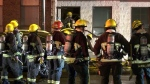 Crews responded to a fire in East Vancouver Tuesday night.