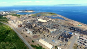 The Brunswick Lead Smelter in Belledune, N.B. is pictured in this image taken from Google Maps. (Google Maps)