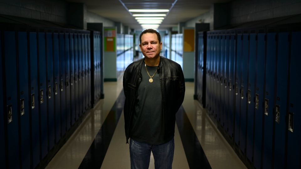 Tony Smith, a former resident at the now shuttered Nova Scotia Home for Colored Children, poses at Auburn Drive High School in Dartmouth, N.S. on Wednesday, November 6, 2019 where students have been using a virtual-reality project meant to teach the history of racism and abuse that took place at the orphanage. (THE CANADIAN PRESS/Darren Calabrese)