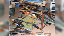 Ottawa Police seized about 850 guns from a home in the Heron Gate area this summer. (Ottawa Police handout)