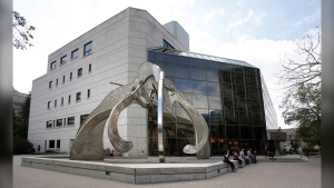 The Manitoba Law Court building is pictured in Winnipeg, on Aug. 18, 2014. (John Woods / The Canadian Press)
